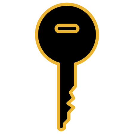 Key door image design illustration