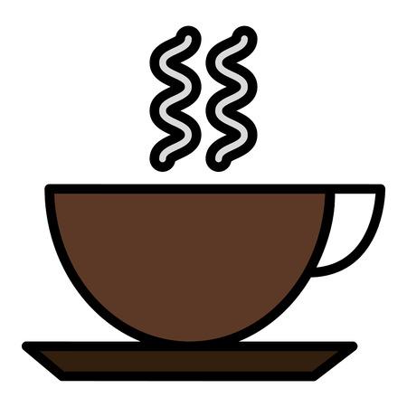 コーヒーカップ孤立したアイコンベクトルイラストデザイン