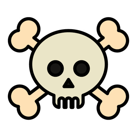 skull with bones crossed vector illustration design Ilustrace