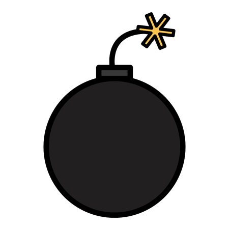 bomb explosive isolated icon vector illustration design Ilustrace
