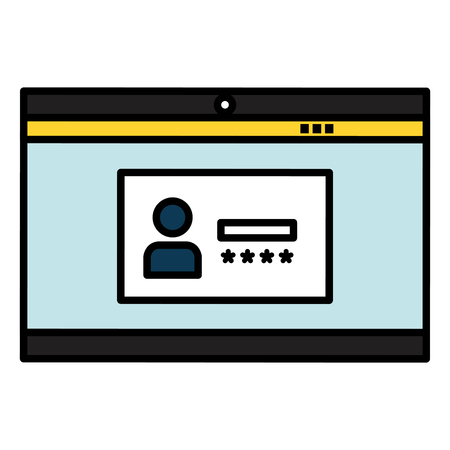 login interface access icon vector illustration design