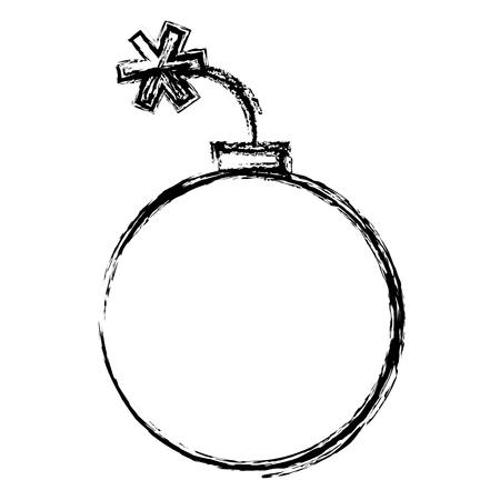 Bomb explosive isolated icon vector illustration design