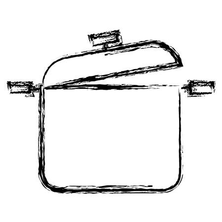 Kitchen pot isolated icon vector illustration design