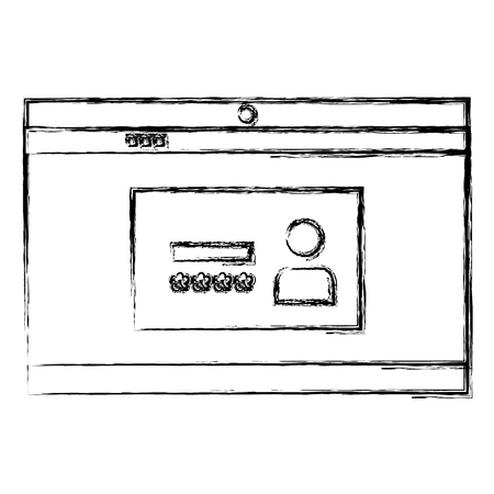 Login interface access icon vector illustration design Ilustração