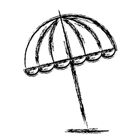 Umbrella beach isolated icon vector illustration design 版權商用圖片 - 97029794