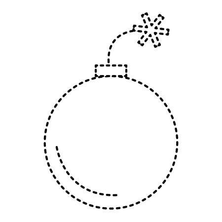 Ikonenvektor-Illustrationsdesign des Booms explosives lokalisiertes Standard-Bild - 97029804
