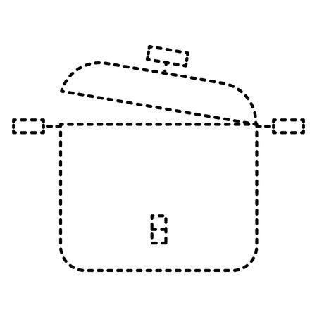 Kitchen pot isolated icon vector illustration design Stock Vector - 97030440