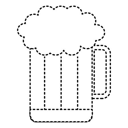 Vector de illustratieontwerp van het bierkruik geïsoleerd pictogram Stock Illustratie