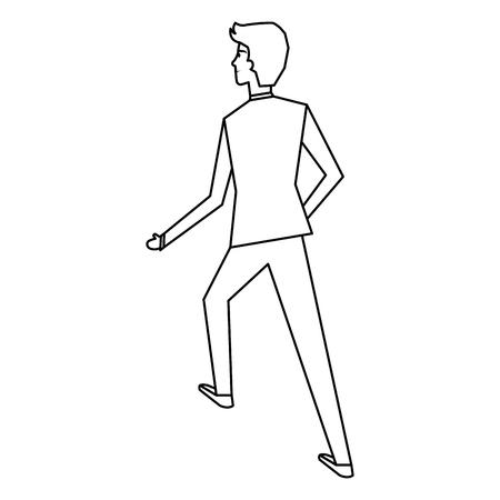 businessman walking avatar character vector illustration design Illustration