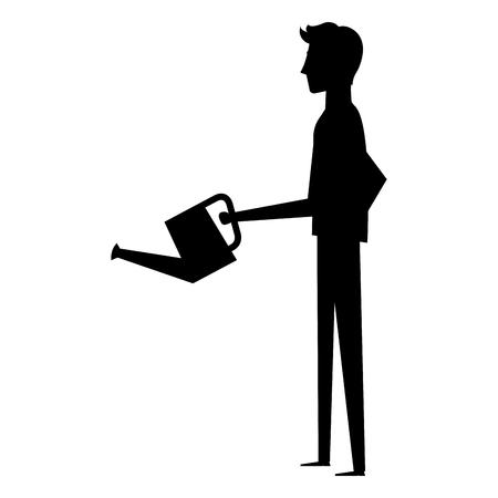 businessman with sprinkler avatar character vector illustration design