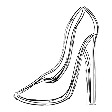 An elegant high heeled shoe icon vector illustration design