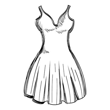 An elegant women's dress icon vector illustration design