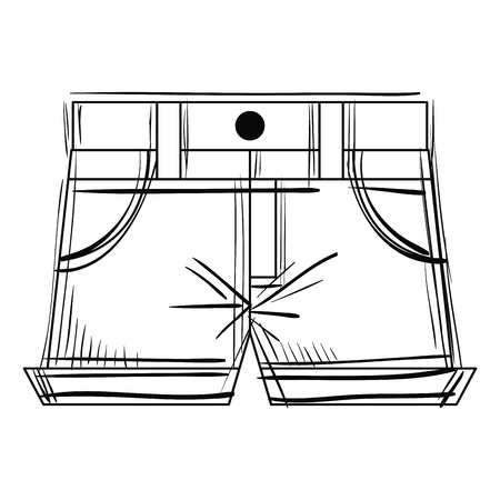 A short for woman vector illustration design