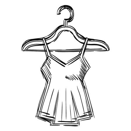 A sensual blouse in a hanger vector illustration design