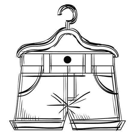 ハンガーベクターイラストデザインのショート  イラスト・ベクター素材