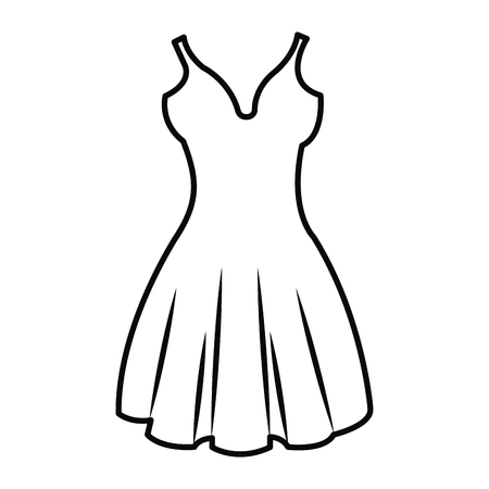 elegant woman dress icon vector illustration design Illusztráció