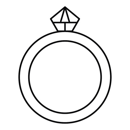 ring with diamond luxury icon vector illustration design Zdjęcie Seryjne - 97142027