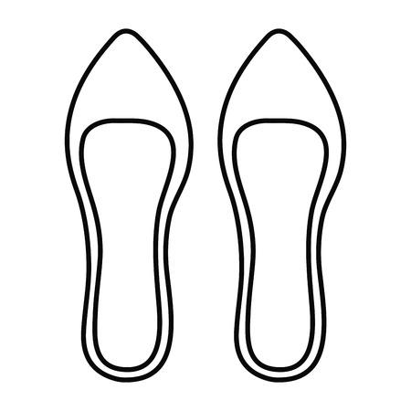 フェメニン靴エレガントなアイコンベクトルイラストデザイン