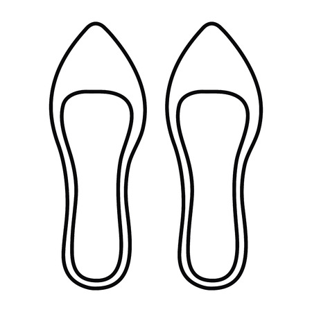 femenine shoe elegant icon vector illustration design