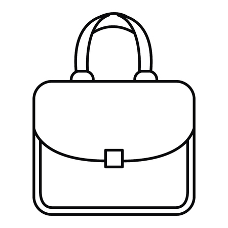 An elegant handbag icon vector illustration design Stock Illustratie