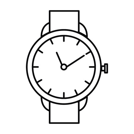 Wristwatch elegant isolated icon vector illustration design Illustration