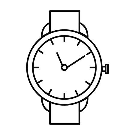 Wristwatch elegant isolated icon vector illustration design Иллюстрация