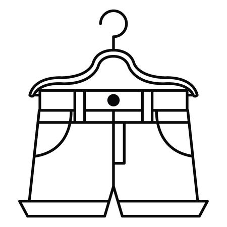 hot short for woman hanging in hook vector illustration design