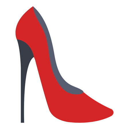 A high heeled elegant shoe icon vector illustration design Çizim