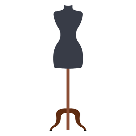 A boutique mannequin isolated icon vector illustration design