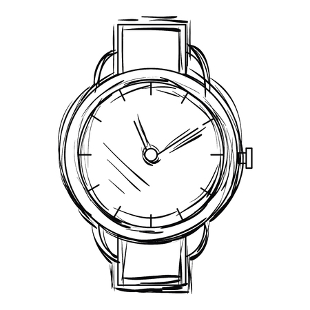 Wristwatch elegant isolated icon vector illustration design 向量圖像