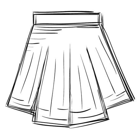 mini skirt fashion icon vector illustration design