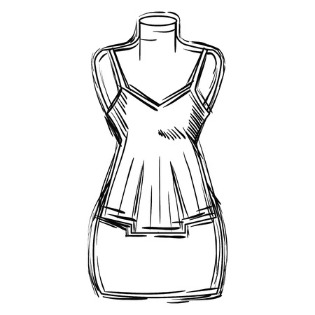 mannequin with sensual blouse for woman vector illustration design