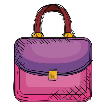 elegant handbag female icon vector illustration design