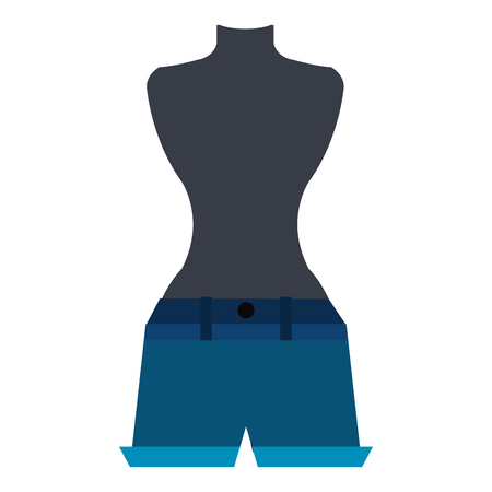 mannequin with hot short for woman vector illustration design