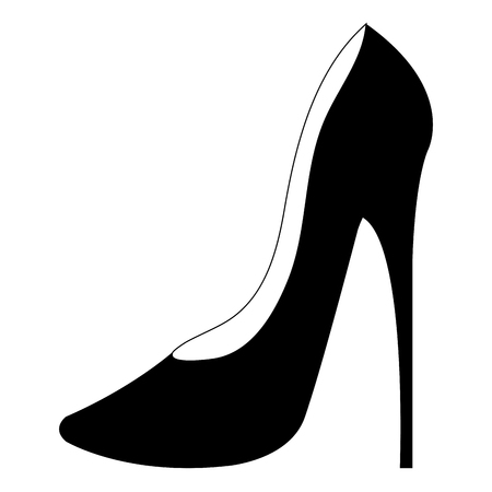 femenine shoe heel elegant icon vector illustration design