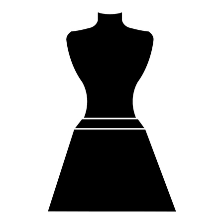 mannequin with miniskirt fashion icon vector illustration design  イラスト・ベクター素材
