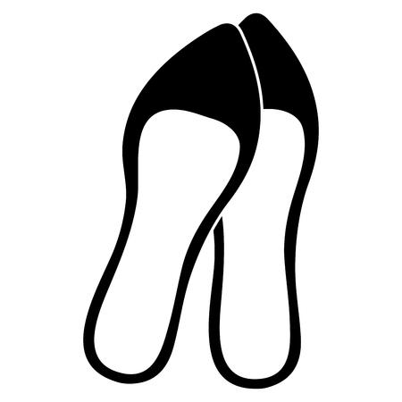 femenine shoe elegant icon vector illustration design