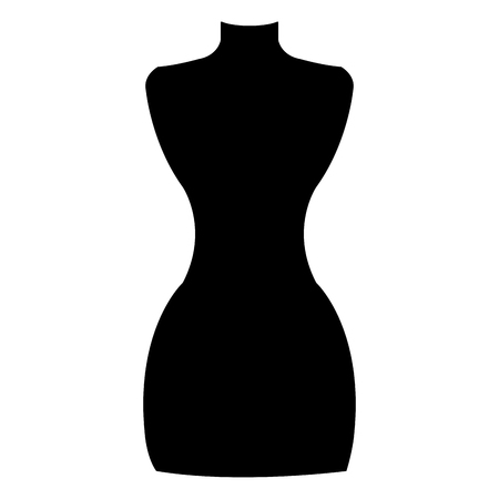 boutique mannequin isolated icon vector illustration design