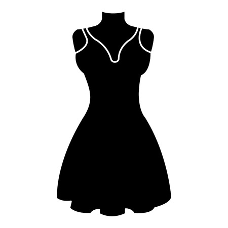 mannequin with elegant woman dress icon vector illustration design 向量圖像