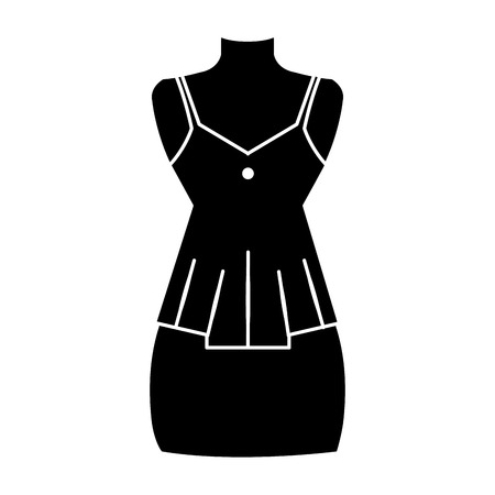 Mannequin with sensual blouse for woman vector illustration design  イラスト・ベクター素材