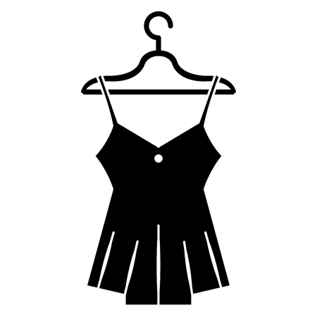 sensual blouse for woman hanging in hook vector illustration design