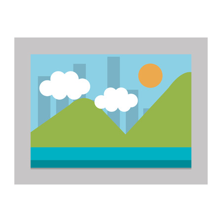 picture landscape isolated icon vector illustration design