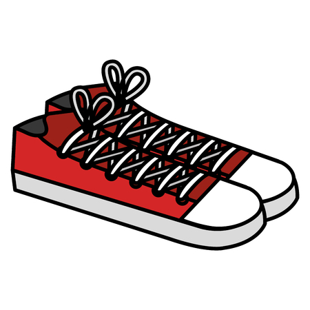 Shoes young style icon vector illustration design