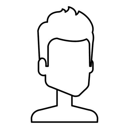 young man shirtless avatar character vector illustration design Stock Vector - 97149369