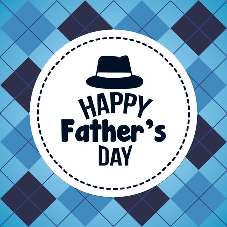 happy fathers day greeting card vector illustration Vettoriali