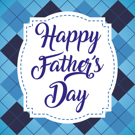 happy fathers day retro label celebration vector illustration