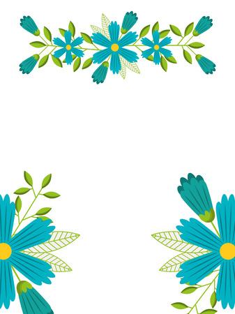 spring flowers natural season pattern vector illustration