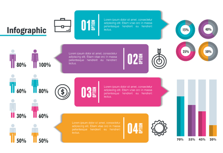 business infographic template icons vector illustration design Illustration