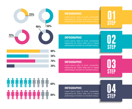business infographic template icons vector illustration design Stock Photo