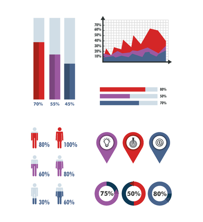 business infographic template icons vector illustration design Vectores